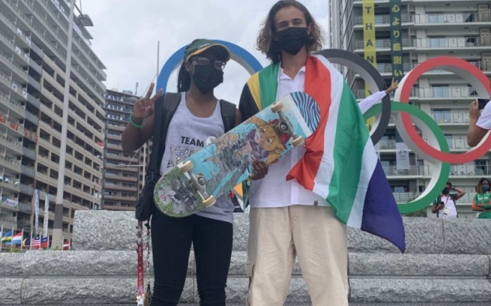 Boipelo Awuah and  Brandon Valjalo both got injured while practising ahead of their street skateboarding competitions at the Tokyo Olympics. Picture Team SA.