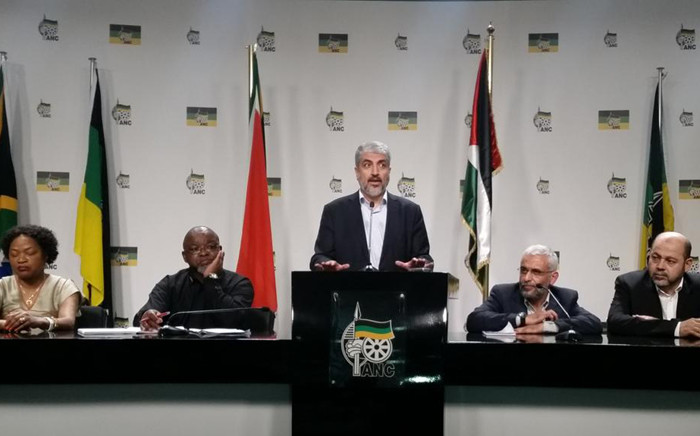 Hamas leader Khaled Meshal addresses a media briefing after talks with the ANC on 19 October 2015. Picture: Kathrada Foundation