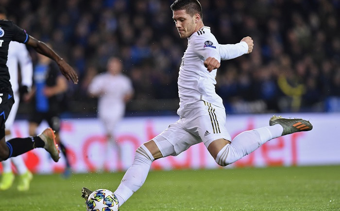 FILE: Real Madrid's Serbian forward Luka Jovic shoots during the UEFA Champions League Group A football match between Club Brugge and Real Madrid CF at the Jan Breydel Stadium in Bruges on 11 December 2019. Picture: AFP.