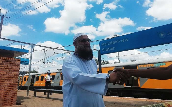 Gauteng Transport MEC Ishmael Vadi at the scene of the train crash at Mountainview station in Pretoria on 8 January 2019. Picture: Kayleen Morgan/EWN
