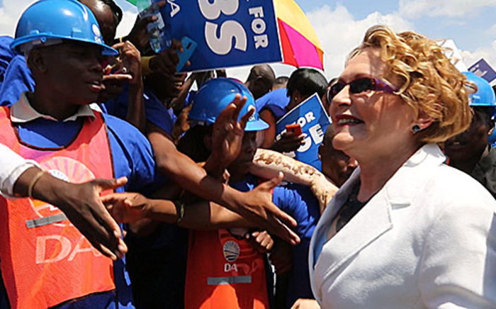 DA leader Helen Zille delivers the party's election manifesto on 23 February. Picture: Sebabatso Mosamo/EWN.
