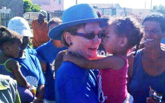 DA leader Helen Zille arrives at Kwanonqaba in the Eden District Municipality on 1 February. Picture: Twitter.