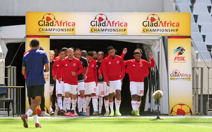 Ajax Cape Town players walk out of the tunnel for a GladAfrica Championship match. Picture: @OfficialPSL/Twitter