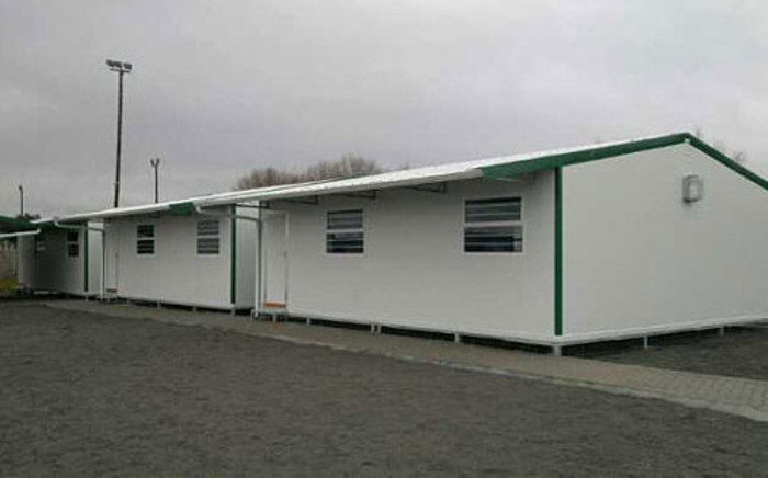 Some of the new temporal classrooms in Grabouw on 16 July 2012. Picture: Janine Willemans/EWN