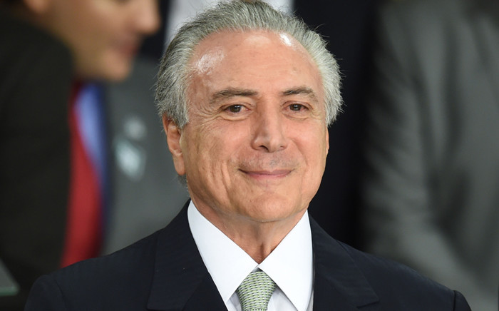 FILE: Brazil President Michel Temer. Picture: AFP