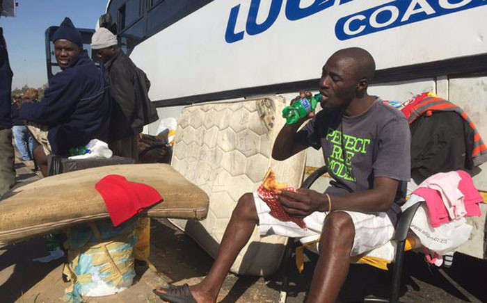 38 Malawian nationals have been stranded for over a month in a broken bus on the East Rand. Picture: Vumani Mkhize/EWN.
