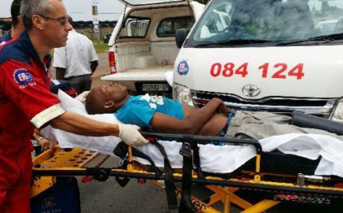 The surviving victim was rushed to hospital. Picture: Supplied.