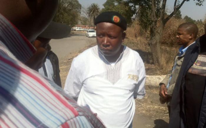 FILE: Julius Malema visits Aurora Mine. Picture: Taurai Maduna/EWN.