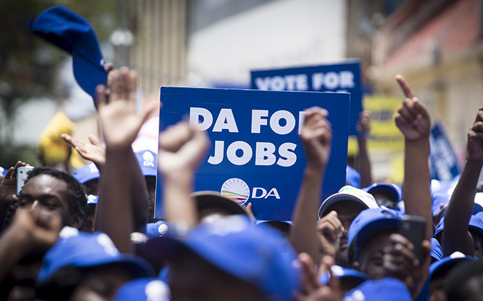 FILE: DA members marched through the streets of Johannesburg against unemployment on 27 January 2016. Picture: Reinart Toerien/EWN