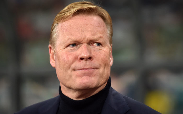 In this file photo taken on 13 October 2019, Netherlands' coach Ronald Koeman looks on prior to the Euro 2020 football qualification match between Belarus and the Netherlands in Minsk. Koeman was appointed as the manager of FC Barcelona on 19 Auagust 2020. Picture: AFP