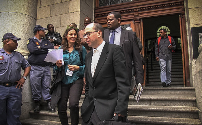 Members of Shrien Dewani's legal team leaving the Western Cape High Court on 30 October 2014. Picture: Thomas Holder/EWN