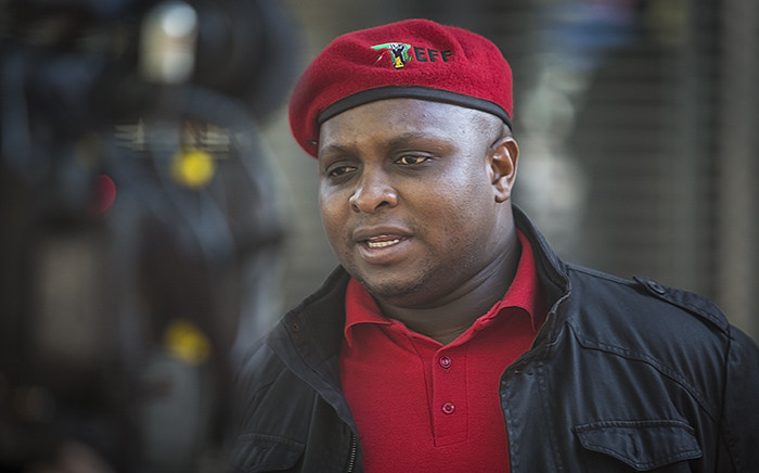 The EFF's Floyd Shivambu attended proceedings at the Constitutional Court in Johannesburg for the Nkandla matter on 09 February 2016. Picture: EWN