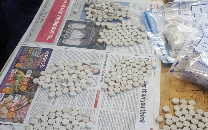 FILE: Mandrax tablets. Picture: @SAPoliceService/Twitter