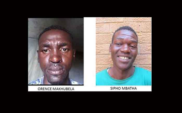 Gauteng police are searching for two serial rapists Sipho Mbatha and Orence Mkhubela who've allegedly been operating in Limpopo and KwaZulu-Natal. Picture: @SAPoliceService/Twitter