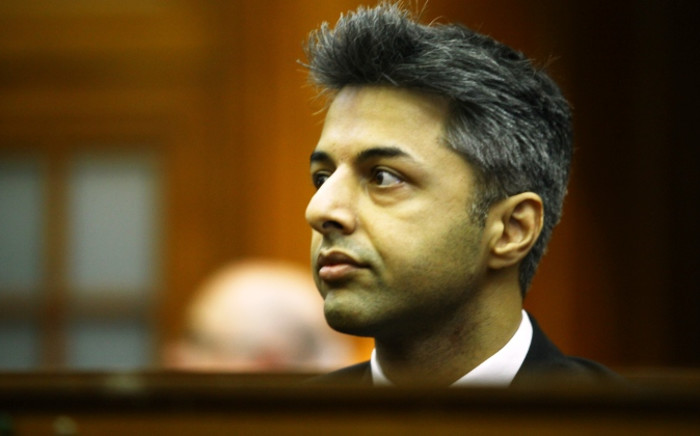 Honeymoon murder accused Shrien Dewani in the dock in the Western Cape High Court. Picture: Aletta Gardner/EWN.