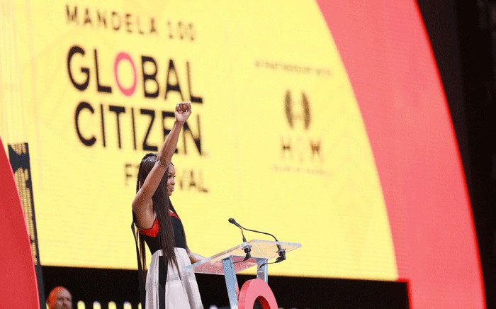 Naomi Campbell at the Global Citizen Festival on 2 December 2018 at the FNB Stadium. Picture: Supplied.