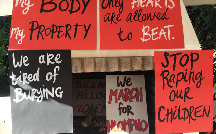 Posters for the #TotalShutdown march set for 1 August 2018. Picture: @WomenProtestSA/Twitter