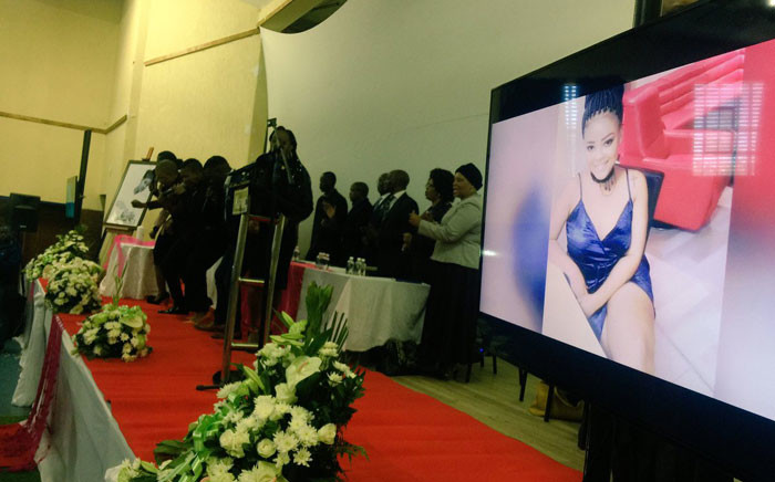 Family and friends of the late Karabo Mokoena at the Diepkloof Hall where her memorial was held. Picture: Hitekani Magwedze/EWN.