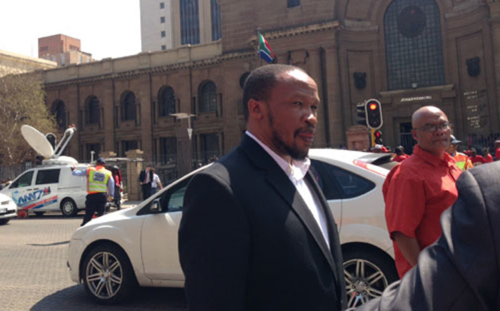 Irvin Jim says Numsa will continue fighting for water, houses, employment and safety in communities. Picture: Sebabatso Mosamo/EWN