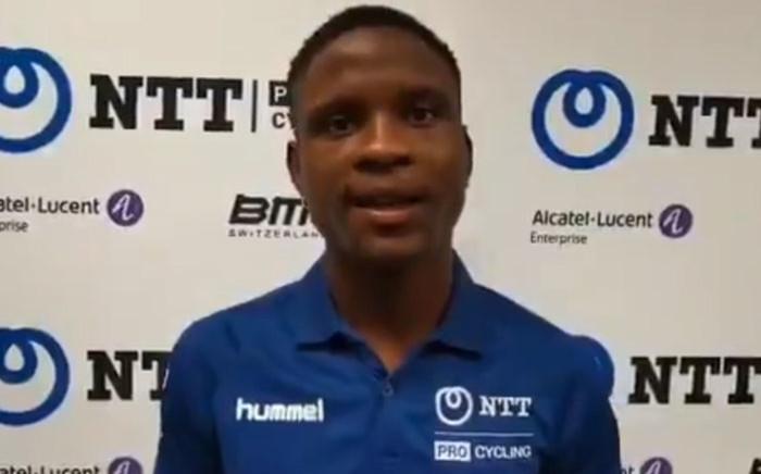 NTT Pro Cycling rider Nic Dlamini. Picture: @NTTProCycling/Twitter