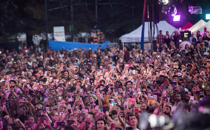 Thousands of people gathered for the Global Citizen festival in New York on 30 September 2018. Picture: @GlblCtzn/Twitter
