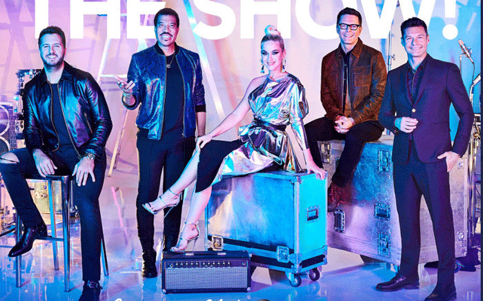 'American Idol' judges Katy Perry, Luke Bryan, Lionel Richie and Bobby Bones with host Ryan Seacrest. Picture: @LionelRichie/Twitter.