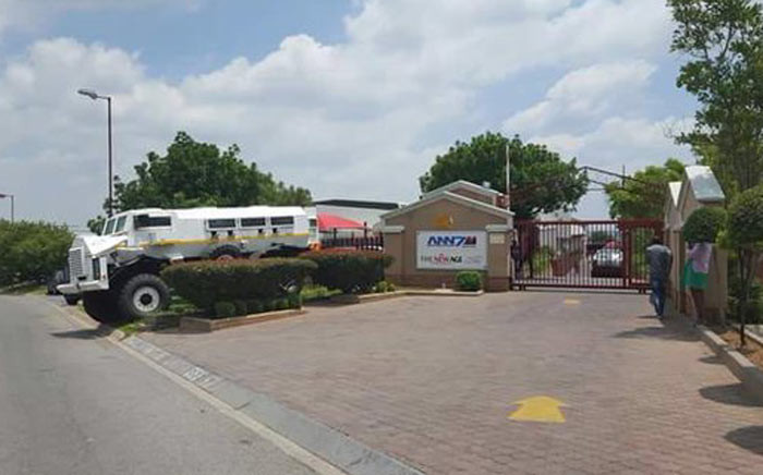 FILE: Outside the Gupta-owned ANN7 offices in Midrand. Picture: Barry Bateman/EWN.