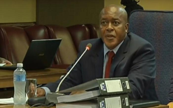 A screengrab of Sibongile Mzinyathi appearing at the Mokgoro Inquiry on 30 January 2019.