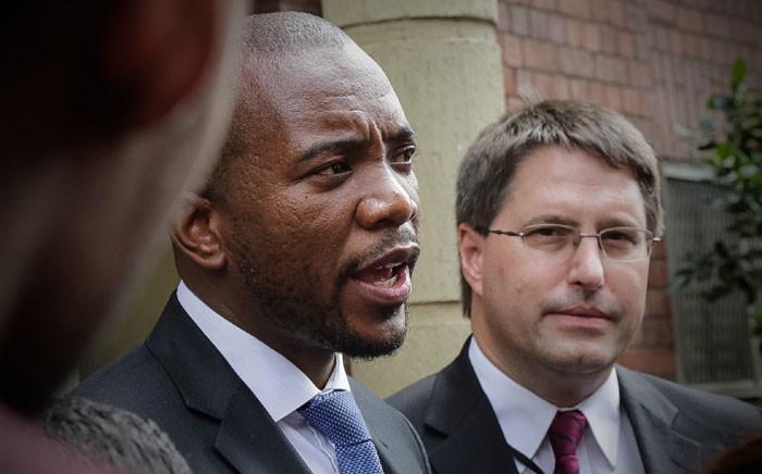 Picture: The DA's Mmusi Maimane (left). Picture: Thomas Holder/EWN.