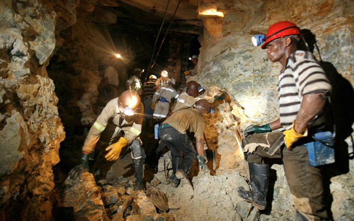 Mine workers. Picture: @SAgovnews/Twitter