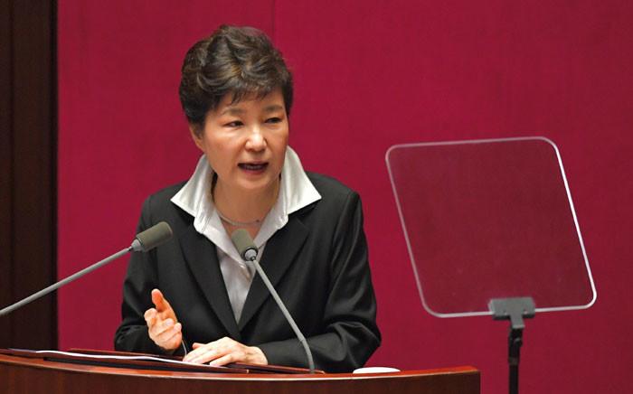 South Korean President Park Geun-Hye. AFP