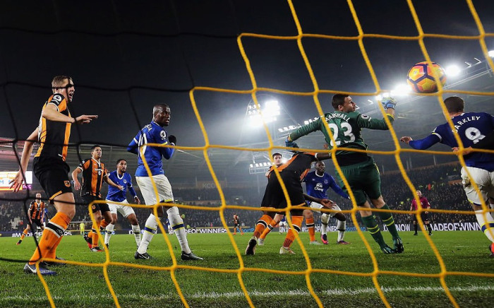 England midfielder Ross Barkley headed a late leveller to salvage a draw for Everton at Hull City in the Premier League. Picture: @Everton.