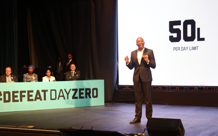 Leader of the Democratic Alliance Mmusi Maimane introduced the DA's 'Defeat Day Zero' plan, which is meant to help Cape Town overcome its water crisis. Picture: Bertram Malgas/EWN