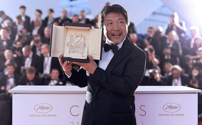 "Director Hirokazu Kore-eda, Palme d'Or award winner for his film ""Shoplifters"" (Manbiki kazoku) at the Cannes Film Festival. Picture: @Festival_Cannes/Twitter."