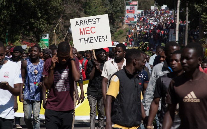 FILE: Thousands of opposition parties supporters participate in a protest march in the capital Lilongwe on 20 June 2019, to force Malawi Electoral Commission chairperson Jane Ansah to resign and to protest the alleged use of correction fluid in the marked ballots. Picture: AFP