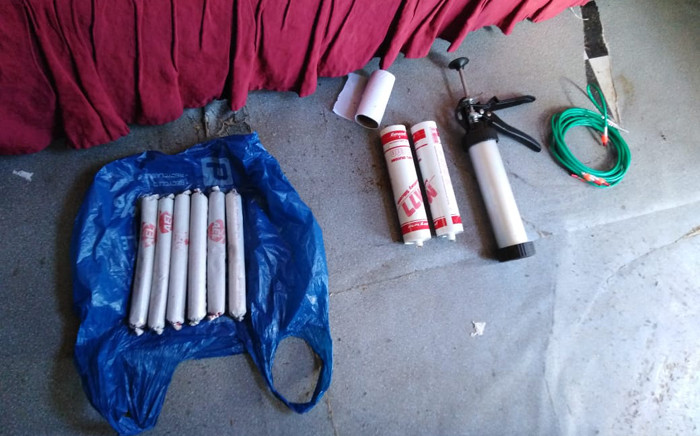 Police arrested three suspects in Khayelitsha on 25 March 2019 found in possession of explosives and stolen vehicles. Picture: @SAPoliceService/Twitter