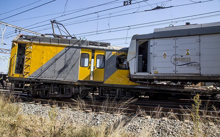 Two trains collided near the Elandsfontein station in Johannesburg on 1 June 2017. Picture: Reinart Toerien/EWN.