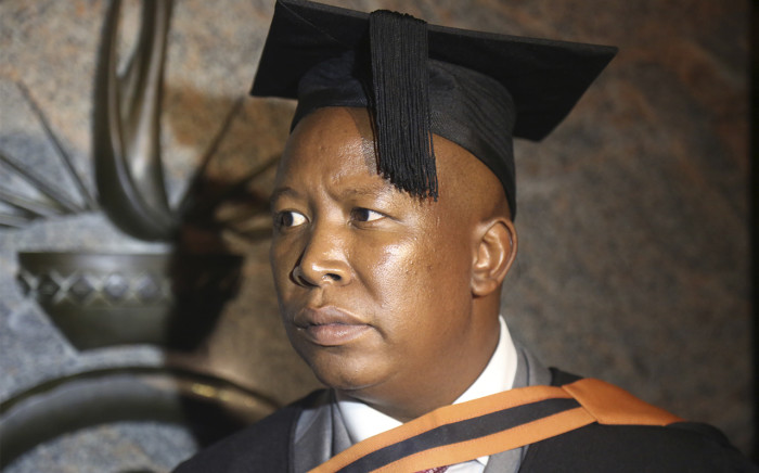 FILE: EFF leader Julius Malema at his graduation ceremony on 30 March 2016. Picture: Christa Eybers/EWN.