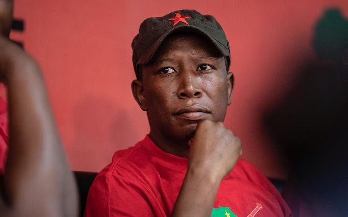 EFF leader Julius Malema at the party's headquarters. Picture: Abigail Javier/EWN