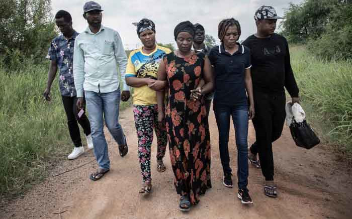 Enock Mpianzi's family was emotional on 21 January 2020 as they got closer to Crocodile River Bank in Brits, North West, where their son tragically drowned. Picture: Abigail Javier/EWN
