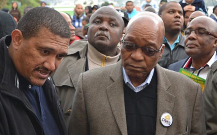 FILE: ANC Western Cape leader Marius Fransman and President Jacob Zuma. Picture: EWN.