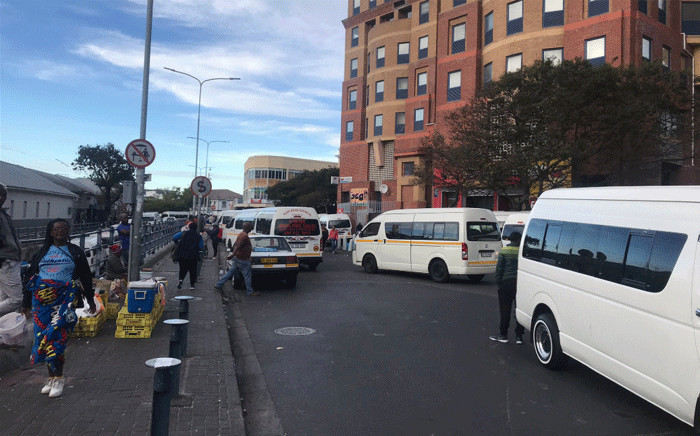 The number of people at the usually buzzing Wynberg taxi rank are already dwindling on Tuesday, 24 March 2020 as South Africa prepares for a lockdown. Picture: Lizell Persens/EWN.