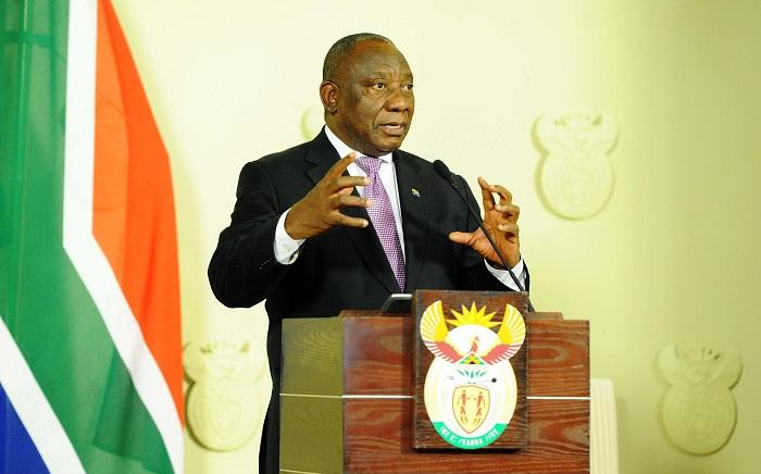 FILE: President Cyril Ramaphosa announces changes to the National Executive at a media briefing held at the Union Buildings, Tshwane on the 22 November 2018.  Picture: GCIS