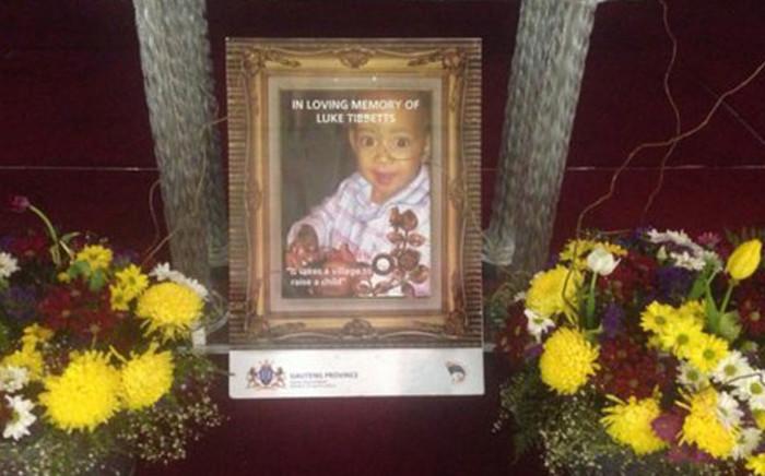 """Funeral service for Luke Tibbetts. Picture: Mia Lindeque/EWN."