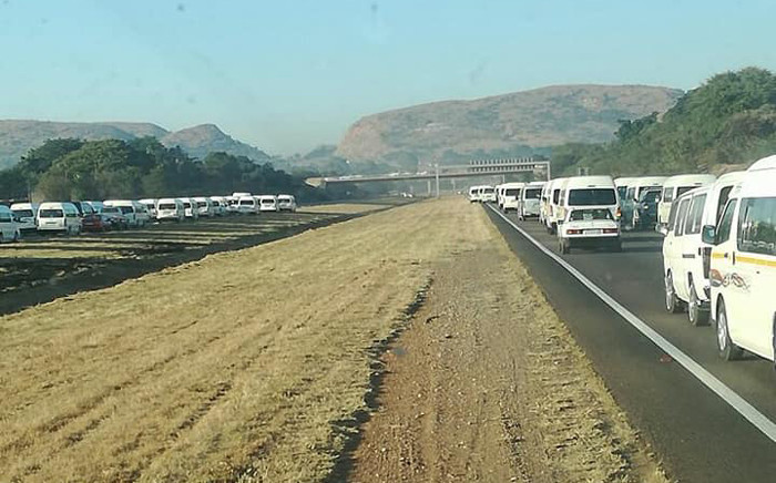 Gauteng motorists have been urged to avoid Midrand until midday amid Santaco strike over high mini-bus taxis prices. Picture: Facebook.