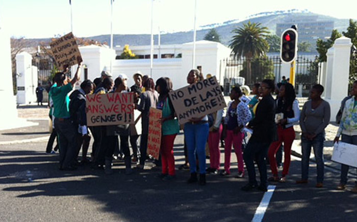 Members of Equal Education picketed in front of Parliament on 28 June 2012. Picture: Carmel Loggenberg/EWN