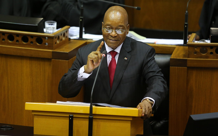 FILE: President Jacob Zuma delivers his State of the Nation Address on 9 February 2017 in Parliament. Picture: AFP