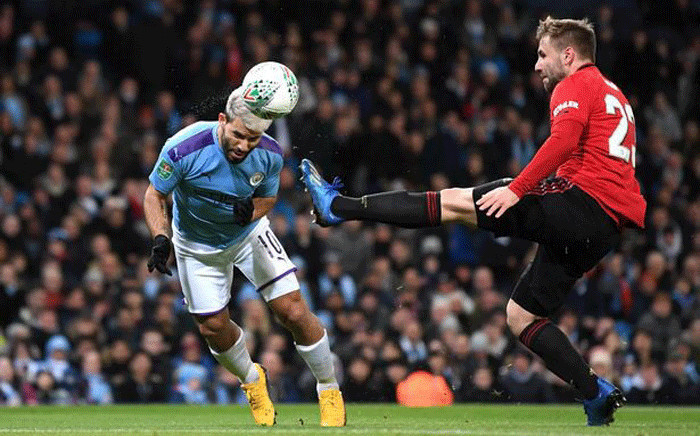 Manchester City lost 1-0 to Manchester United on 29 January 2020. Picture: @aguerosergiokun/Twitter.