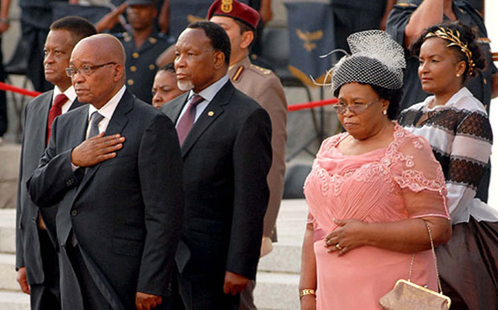 President Jacob Zuma arrives for the State of the Nation Address on 14 February 2013. Picture: GCIS