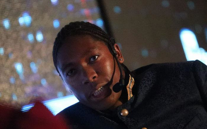 Olympic 800m gold medallist Caster Semenya speaking at the Top Women Conference in Johannesburg on 14 August 2019. Picture: Kayleen Morgan/EWN